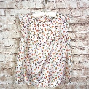 See By Chloe' Silk White Multicolor Print Blouse